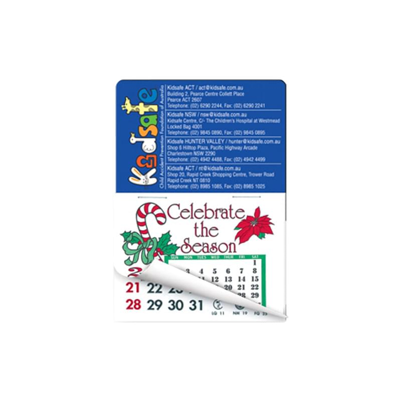 "2"" x 3"" Rectangle Calendar Pad Magnets W/Tear Away Calendar"