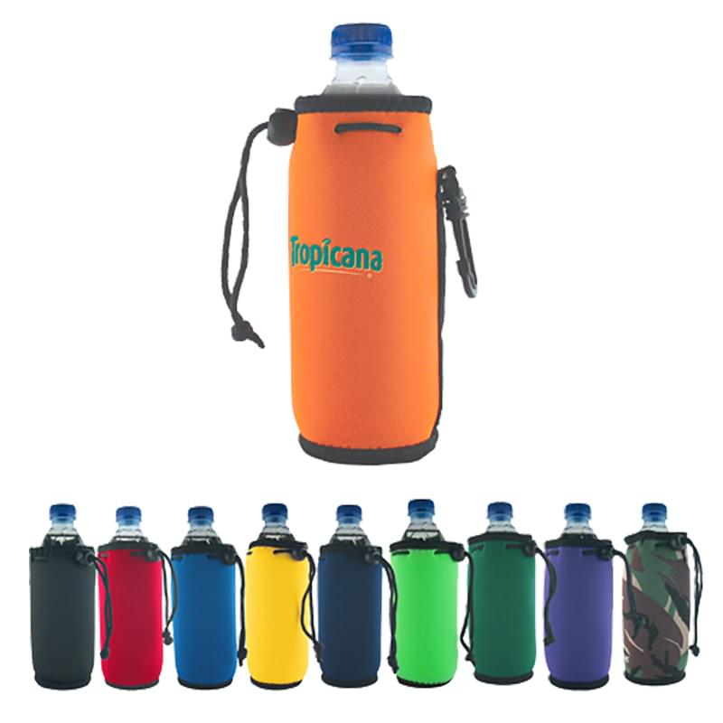 Bottle Coolie with Drawstring & Clip