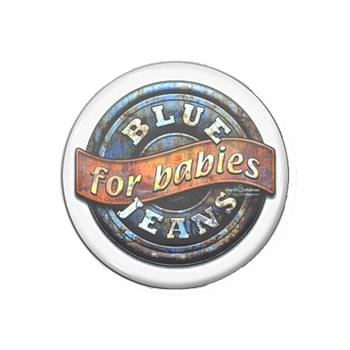 "3"" Round Full Color Button w/Safety Pin"