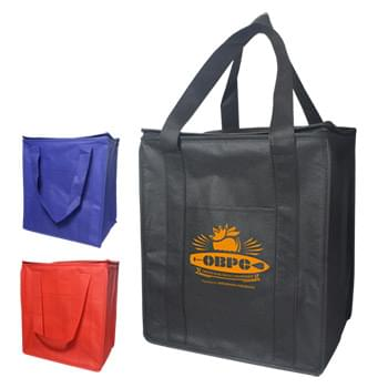 Cooler Tote Shopping Bag Non-Woven with Zipper