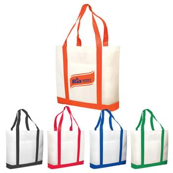 Bags - Non-Woven Two Tone Shopping Tote Bags