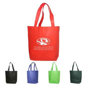 "Bags - Non-Woven Shopping Tote Bags (15""W x 13.5""H x 4.25""D)"