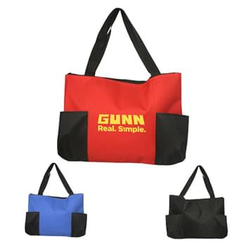"Bags - Zippered Tote Bags (19""W x 14""H)"