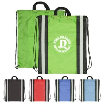 Drawstring Backpack - Reflective Drawstring Sport Bags
