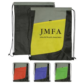 Drawstring Backpack - Non-Woven Tri Color Drawstring Bag