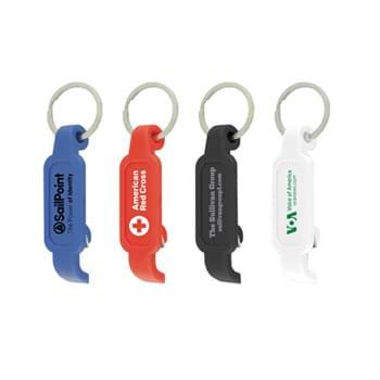"Bottle/Can Opener Key Ring (3/4""x2 1/2""x1/2"")"