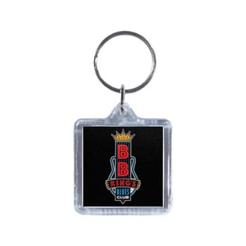 "Full Color Square Acrylic Keytag (1 1/2"")"