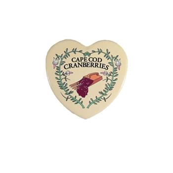 "2.75"" Heart Button Style Refrigerator Magnet w/Full Magnetic Back"