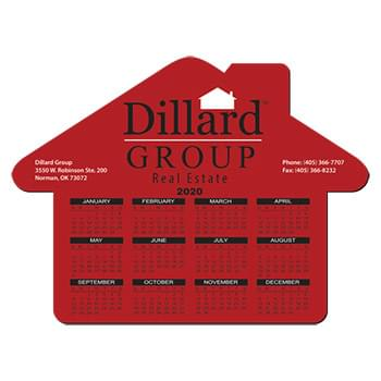 "Mouse Pad - House Shape Hard Top Custom Printed Calendar Mouse Pad 1/16"" Rubber Base"
