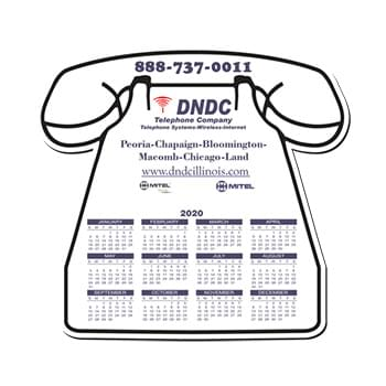 "Mouse Pad - Telephone Shape Hard Top Custom Printed Calendar Mouse Pad 1/16"" Rubber Base"