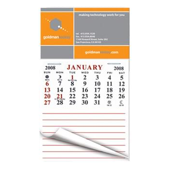 "4"" x 3 1/2"" Business Card Calendar Pad Magnets w/Tear Away Calendar"