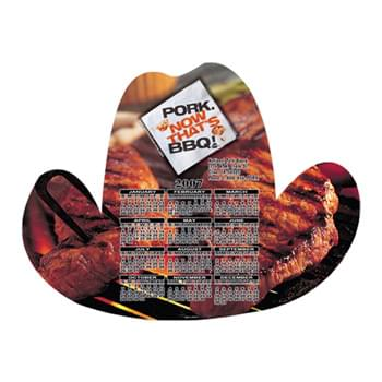 "Cowboy Hat Shape Custom Printed Calendar Sheets (8""x8"")"