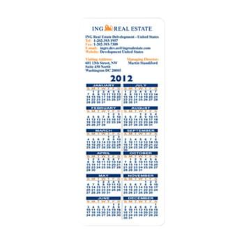 "Rectangle Shape Custom Printed Calendar Sheets (3 1/2"" X 8 1/2"")"