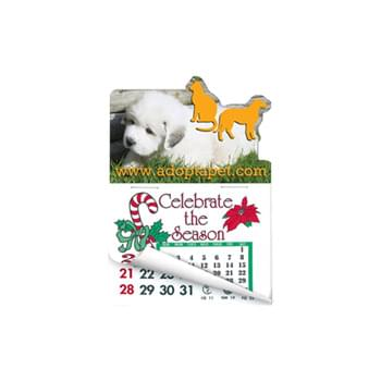 Dog & Cat Shape Calendar Pad Sticker W/ Tear Away Calendar