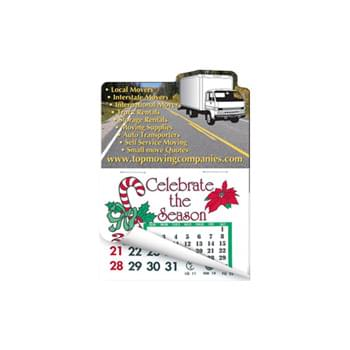 Cargo Truck Shape Calendar Pad Sticker W/ Tear Away Calendar