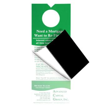 Custom Printed Door Hanger With Business Card Magnet