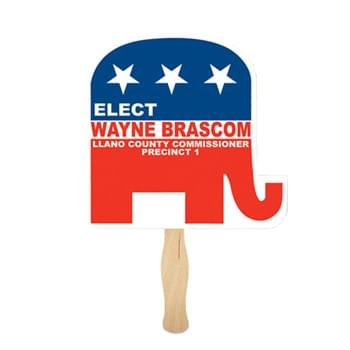 Republican Elephant Shape Single Hand Fan