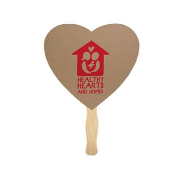 Heart Recycled Paper Hand Fan Single