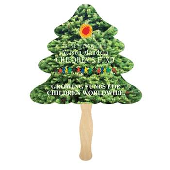 "5.25""x8.25"" Evergreen Sandwich Hand Fan"