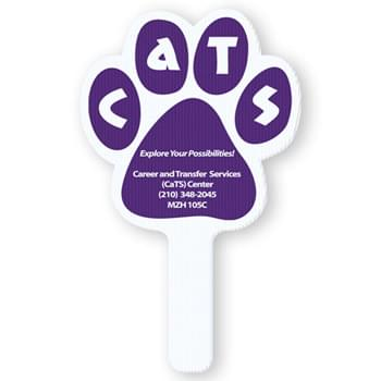 Corrugated Plastic Paw Shape Rally Hand Fan