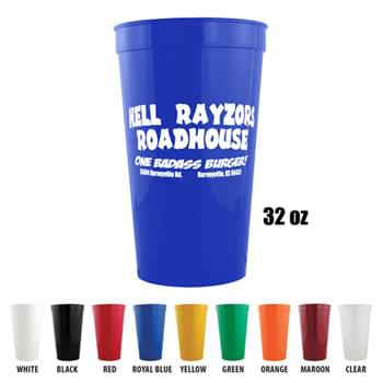 Stadium Cups - 32 Oz Polypropylene plastic Stadium Cups