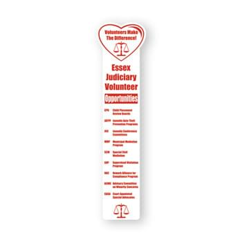 "Bookmark - 2""X8"" Heart Top Custom Printed Bookmarks"