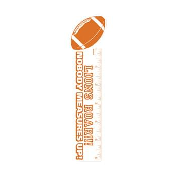 "Bookmark - 2""X8"" Football Shape Custom Printed Bookmarks"