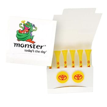 Custom Printed Matchbook Packet w/ Tee & 2 Ball Markers (Imprinted)