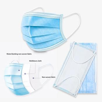 Personal 3-Ply Disposable Face Masks