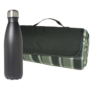 Picnic Blanket and Bottle Set