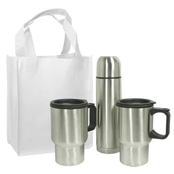 Mug Gift Set with Non-woven Gift Tote Bag