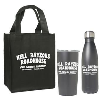 Tumbler and Bottle Set with Non-Woven Mini Gift Tote Bag