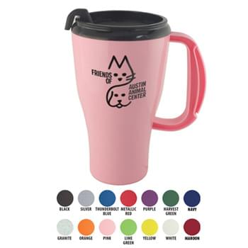 Mugs - 16 Oz. Omega Mug With Spill-Resistant Lid