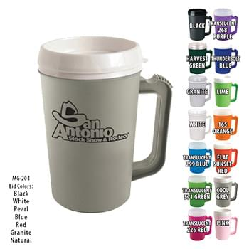 22 Oz. Grande Coffee Mug With Spill-Resistant Lid
