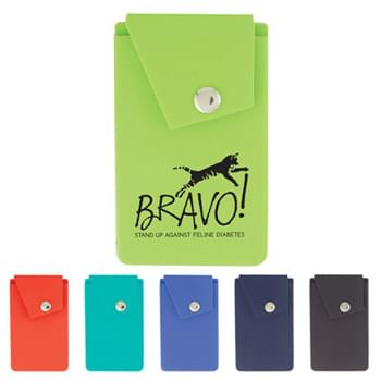 Silicone Smart Phone Wallet w/Stand