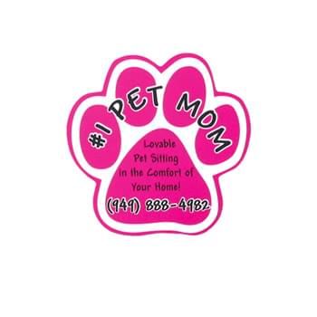 "5""X5"" Paw Shape Bumper Vehicle Magnet"