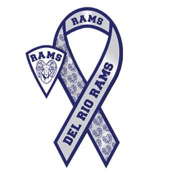 "3.5"" X 8"" Awareness Ribbon Shape Vehicle Magnet - Standard Cutout"