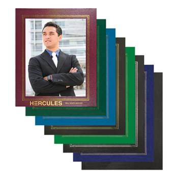 "8.5""X11"" Leatherette Photo Frame with Custom Imprint"