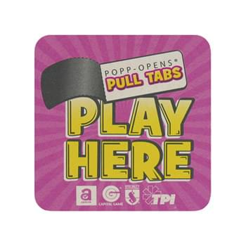 "Pulp Coaster - 4"" Square 40pt Lightweight Full Color Pulp Board Paper Coaster"