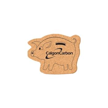 "Coaster - 3 1/2"" x 4 1/2"" Pig Shape Cork Coasters"